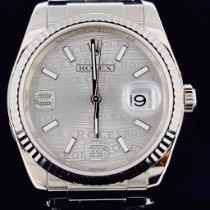 Rolex Or blanc Remontage automatique Blanc Sans chiffres 36mm nouveau Datejust