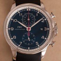 IWC Portugieser Yacht Club Chronograph Stahl 45mm Schwarz Arabisch