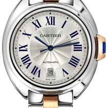 Cartier Clé de Cartier Steel 40mm Silver Roman numerals