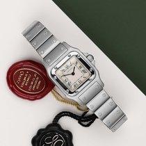 Cartier Santos (submodel) Stal 24mm Biały