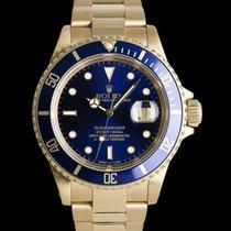 Rolex Submariner Date Oro amarillo 40mm Azul