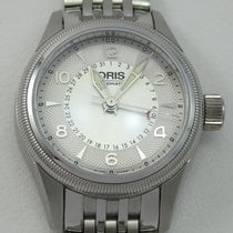 Oris Big Crown Pointer Date Acero Plata Arábigos