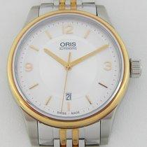 Oris Classic Or/Acier 42mm Argent Arabes