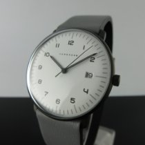 Junghans max bill Quarz Acier 38mm Blanc Arabes