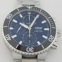 Oris Aquis Chronograph Steel 45.5mm Blue No numerals