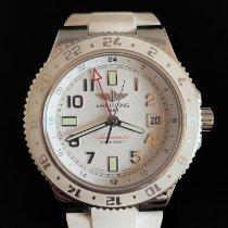 Breitling Superocean GMT Stahl 42mm Weiß Arabisch