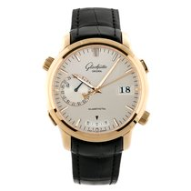 Glashütte Original Rose gold Automatic Silver No numerals 42mm pre-owned Senator Diary