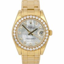 Rolex Pearlmaster Yellow gold 34mm Mother of pearl