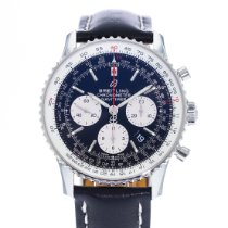 Breitling Navitimer 1 B01 Chronograph 43 pre-owned 43mm Black Date Leather