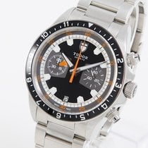 Tudor Heritage Chrono Steel 42mm Black