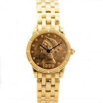 Corum Coin Watch Yellow gold 29mm Champagne United States of America, Florida, Sarasota