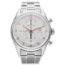 TAG Heuer Carrera pre-owned 44mm Silver Date Steel