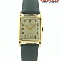 Elgin Yellow gold Manual winding Silver 24mm pre-owned