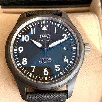 IWC Fliegeruhr Chronograph Top Gun gebraucht 41mm Schwarz Datum Textil