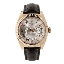 Rolex Or rose Remontage automatique Rose Romains 42mm occasion Sky-Dweller