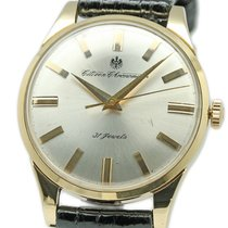 Citizen Yellow gold Manual winding Silver 37mm pre-owned