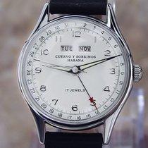Cuervo y Sobrinos Stål 31mm Manuelt Cuervo y Sobrinos La Habana Mens 30mm Calendar Watch brugt