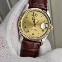 Tudor Prince Oysterdate Steel 34mm Gold (solid) Roman numerals
