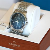 Eterna Steel Automatic Black Arabic numerals 42mm new