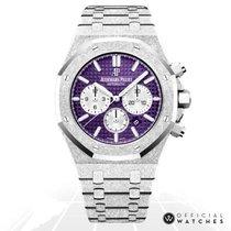 Audemars Piguet Royal Oak Chronograph White gold 41mm Purple No numerals