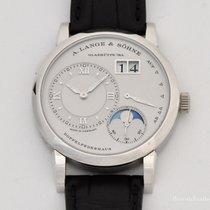A. Lange & Söhne Lange 1 occasion 38.5mm Phase lunaire Date Boucle ardillon