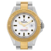 Rolex Yacht-Master 40 pre-owned 40mm White Date Gold/Steel