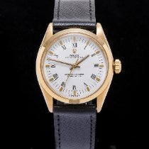 Rolex Oyster Perpetual Yellow gold 34mm White