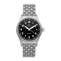 IWC Pilot's Watch Automatic 36 Ocel 36mm Černá Arabské