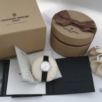 Frederique Constant Slimline Mid Size Steel 28.6mm Silver Roman numerals