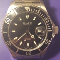 Marcello C. Tridente Steel 44mm Black No numerals