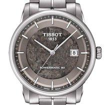 Tissot Luxury Automatic Acier 41mm Gris Sans chiffres