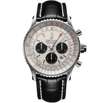 Breitling Navitimer Rattrapante Acero 45mm Plata Sin cifras