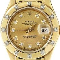 Rolex Oro amarillo Automático Madreperla Sin cifras 29mm usados Lady-Datejust Pearlmaster