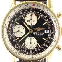 Breitling Yellow gold Automatic Black No numerals 41mm pre-owned Old Navitimer