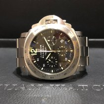 Panerai Luminor Chrono Steel 44mm Black No numerals Singapore, Singapore