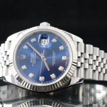 Rolex Datejust Stahl 41mm Blau Keine Ziffern Deutschland, Hamburg