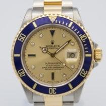 Rolex Submariner Date gebraucht 40mm Gold Datum Gold/Stahl
