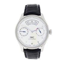 IWC Portuguese Annual Calendar nuevo 2017 Automático Reloj con estuche y documentos originales IW503501