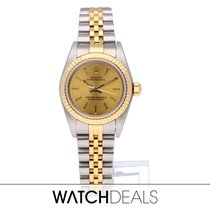 Rolex Oyster Perpetual 26 Goud/Staal 26mm Champagne Geen cijfers Nederland, Amsterdam