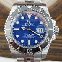 Rolex Submariner Date Staal 40mm Blauw Geen cijfers