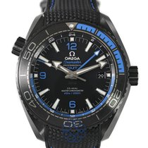 Omega Керамика Автоподзавод Черный Aрабские 45.5mm подержанные Seamaster Planet Ocean