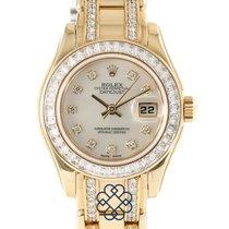 Rolex Lady-Datejust Pearlmaster Sárgaarany Gyöngyház