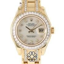 Rolex Lady-Datejust Pearlmaster Aur galben Sidef
