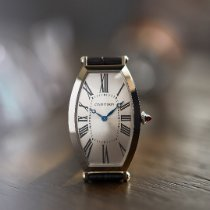 Cartier Tonneau Платина 46.1mm Cеребро Римские