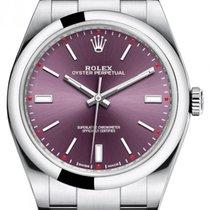 Rolex Oyster Perpetual 39 Acero 39mm Violeta Sin cifras