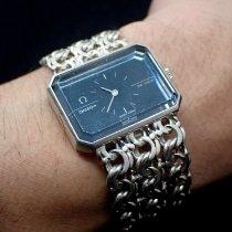 Omega Stříbro Ruční natahování Modrá 24.5mm použité De Ville