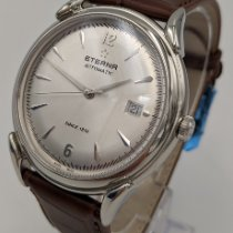 Eterna Steel Automatic Silver Arabic numerals 40mm new