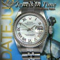 Rolex Lady-Datejust Сталь 26mm Перламутровый Римские