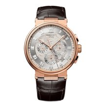Breguet Rose gold Automatic Silver Roman numerals 40mm new Marine