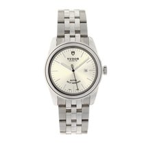 Tudor Glamour Date Steel 31mm Silver No numerals